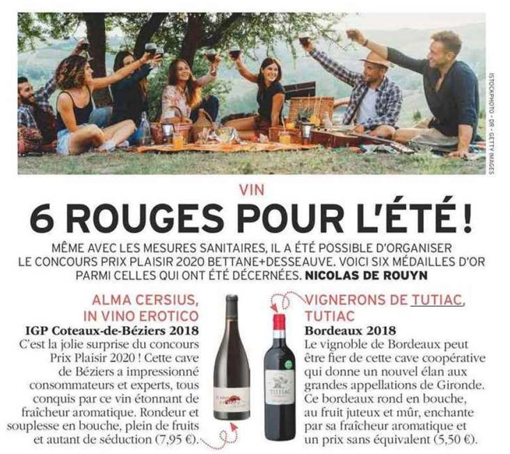 Tutiac Bordeaux rouge 2018 ZRP