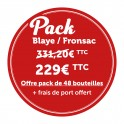 """Offre Pack 48 bouteilles """"Blaye/Fronsac"""" sept 21"""